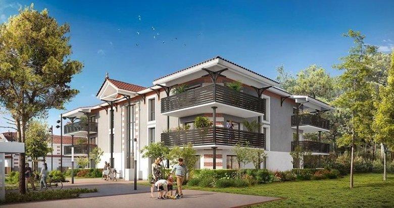 Achat / Vente programme immobilier neuf Audenge résidence dans un environnement boisé et paysagé, à seulement 8min des Plages (33980) - Réf. 1028